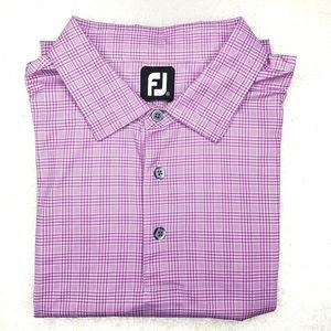 Footjoy Polo  XXL purple Checkered Pattern